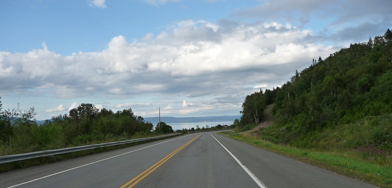 Sunday afternoon, heading out of Campbellton, NB