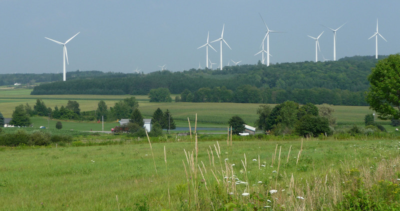 One of quite a few wind turbine systems I ran across this trip...these in PA.  Very much visually polluting in my way of thinking...glad they're not in my backyard...mostly farmland in this area, so I guess they don't mind so much.  I did see some signs in another area asking people to vote against another project.