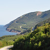 Cabot Trail winding along the coast out near Pleasant Bay