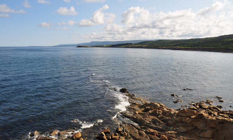 Tuesday morning, heading up the Cabot Trail, I took a little gravel road that ran out to a point overlooking the cove...beautiful place, would love to have camped there, but there were signs...ugh!