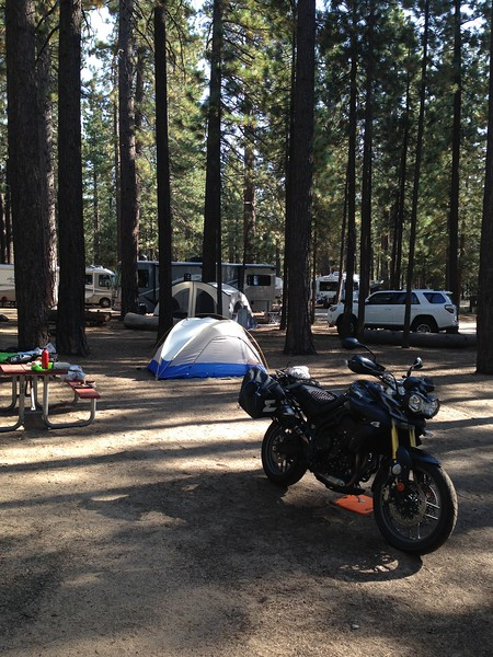 Camped out in a well-organized but noisy RV park in South Lake Tahoe.