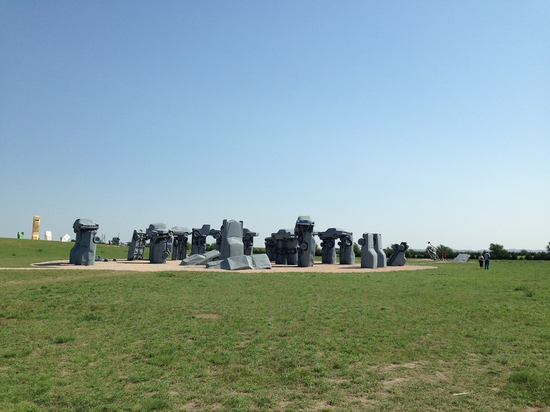 Alliance, Nebraska: Carhenge! Made famous during the eclipse because its pieces are arranged exactly as those of Stonehenge, which I understand is a British imitation of some kind.