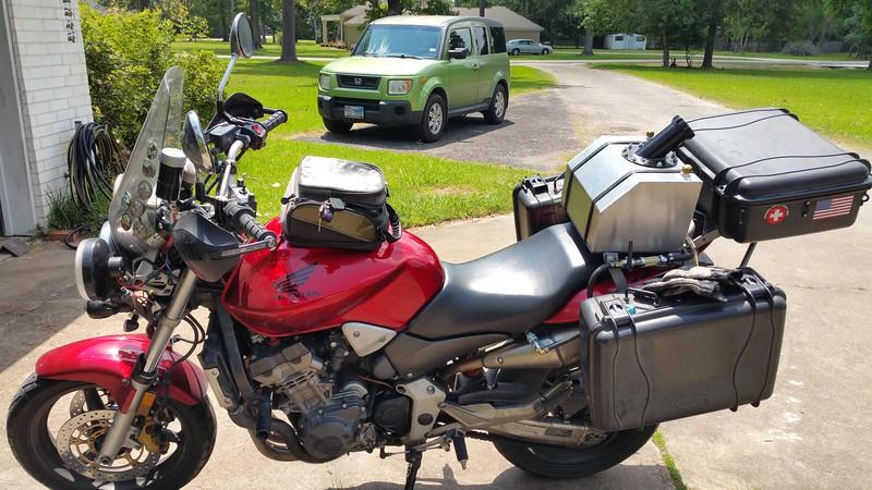 8.5 gallon capacity. Minimum 300 mile range.