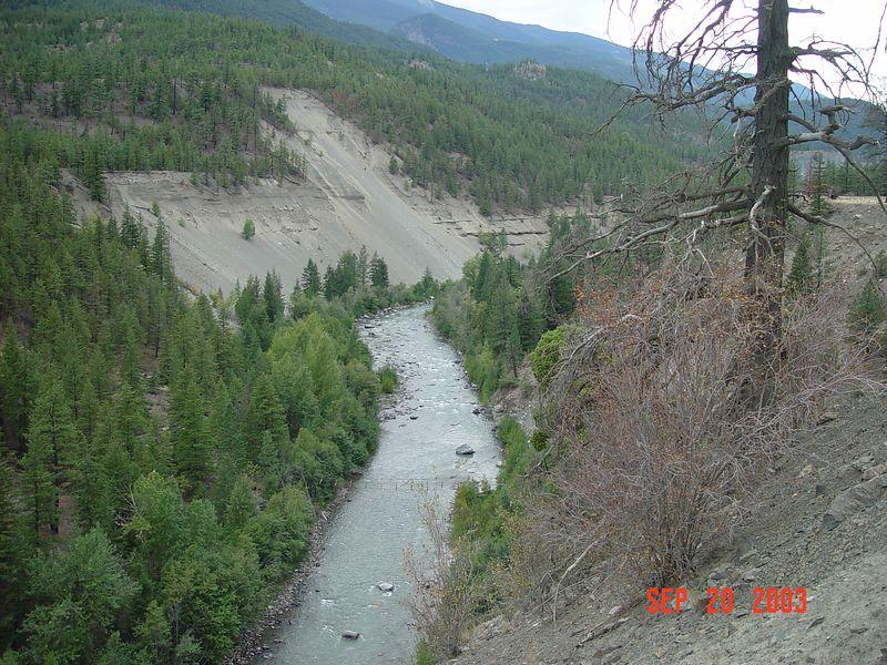 20 Deep river canyon