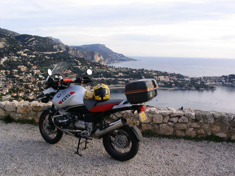 Fort Auban, Nice Jan2004 looking east to Cap Ferrat and Villefranche sur Mer