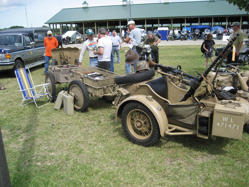 some guy had a fully restored German military rig complete with ordnance