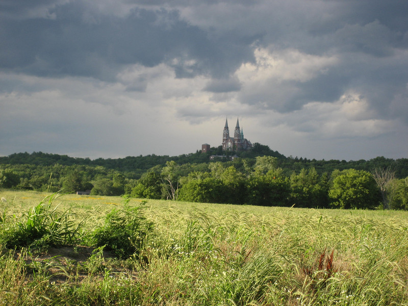 A nice view of Holy Hill...out for a spin, and trying to stay ahead of the rain.