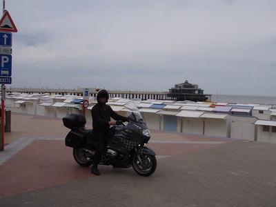 Patrick aan de pier van Blankenberge.