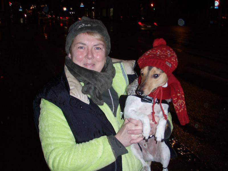Rosa en Jefke in Kerststemming.