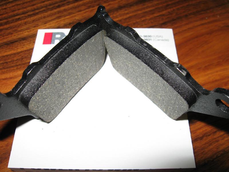 New Galfer Black rear brake pads.   Mmmmm... meaty.