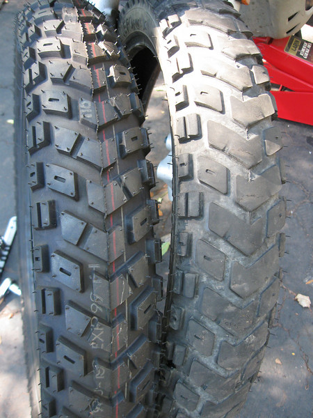 Front Mefo Explorer tires - new and with 10,600 miles.