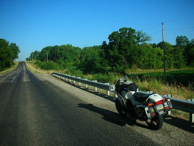 Somewhere in Missouri, westbound on a lettered road.