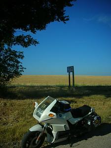Missouri/Kansas border.