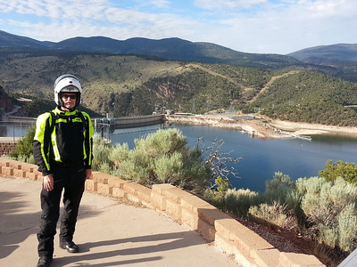 At Flaming Gorge Dam in Utah.