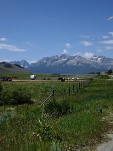 Sawtooth range near Stanley, ID.