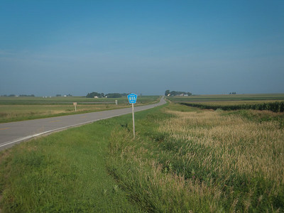 Day 3.  Westbound in Hancock county, near Corwith, IA