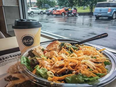 Lunch break near Roanoke, escaping the rain.