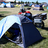 Camping at the BMW international Rally