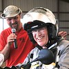 Ian Schmeisser provided photo of me with announcer Shawn Thomas