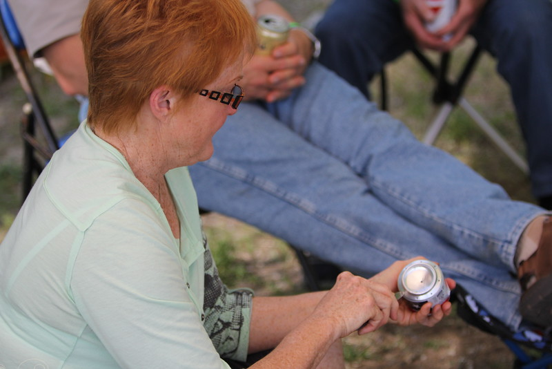 B.C. Campsite,  beer can stove crafting
