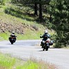 Tina and Laura Riding through Eastern Oregon