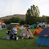 Typical scene at Rally camping area