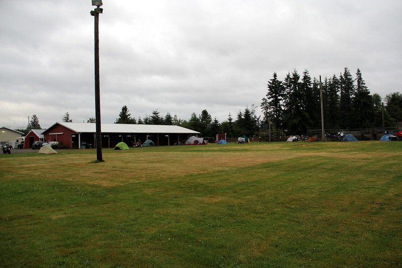 I never got a shot of all the bikes and tents which filled the field by Saturday.  Mabey someone will send me some.