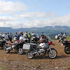 GS ride participants on Squally Jim peak overlookng the Willapa river valley.