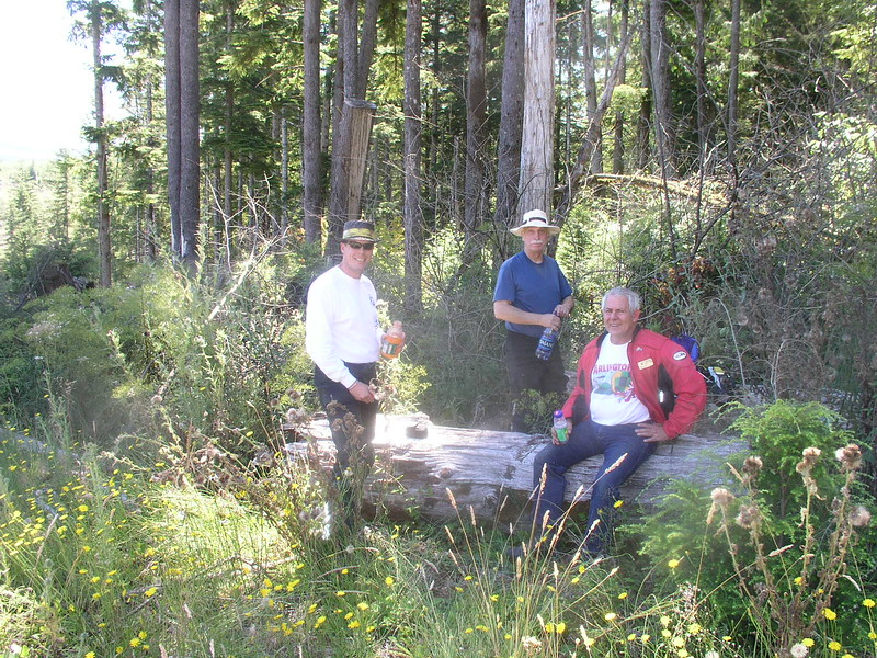 Charlie, Herb and Bruce at a rest stop in the Willipa hills.