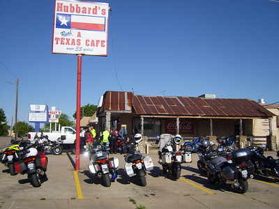 Heading out from Hubbard's in downtown Garland