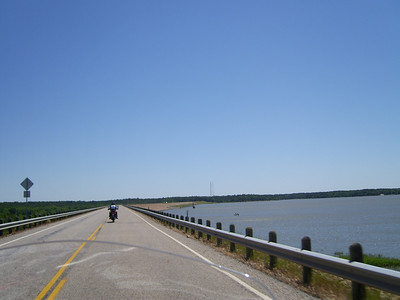 Crossing Pat Mayse Lake