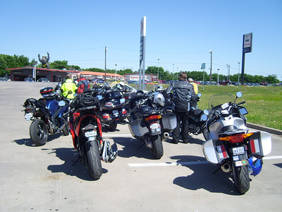 A stop for gas and break in Bonham