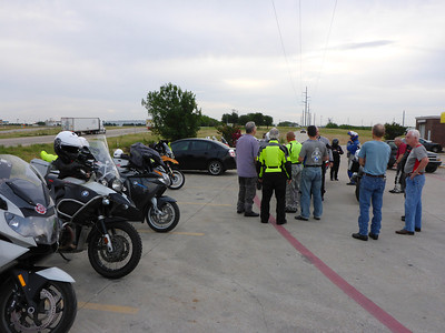 Gathering near Texas Motor Speedway for the ride
