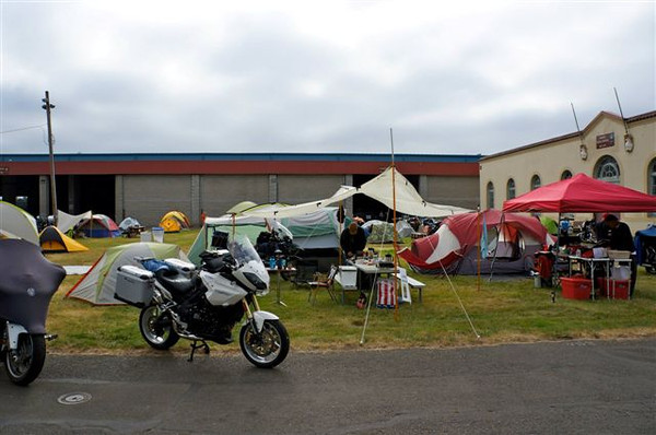 Salem fair grounds camp setup