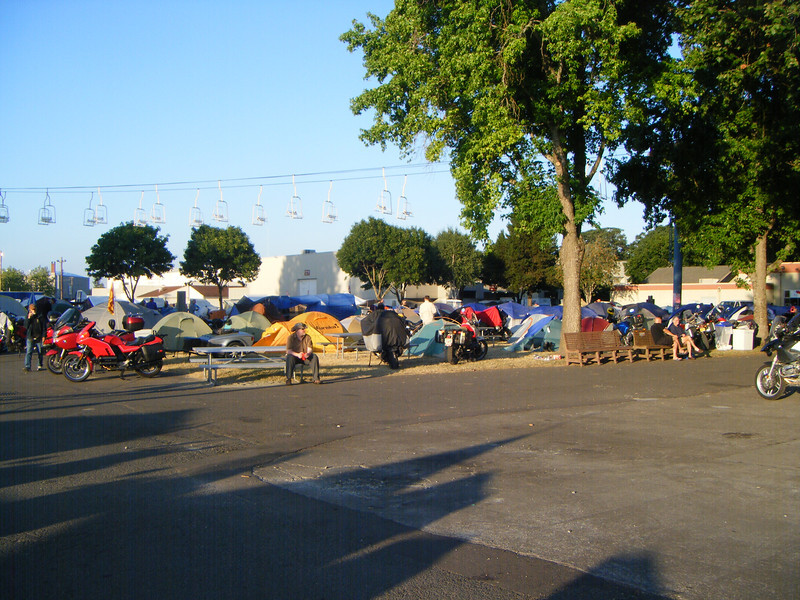 More tents and bikes..