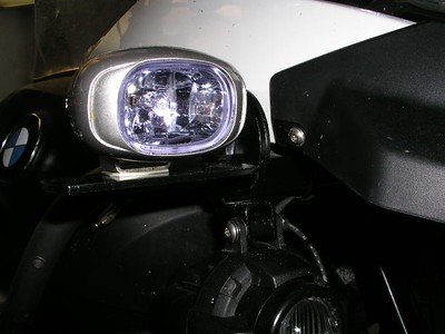 IPF REV1 auxiliary lights, using extender plates.  BMW fog lights also fitted