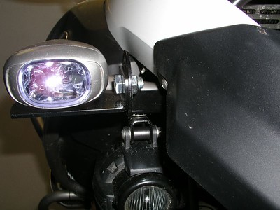 BMW fog lights and IPF REV1 auxiliary lights, using extender plates