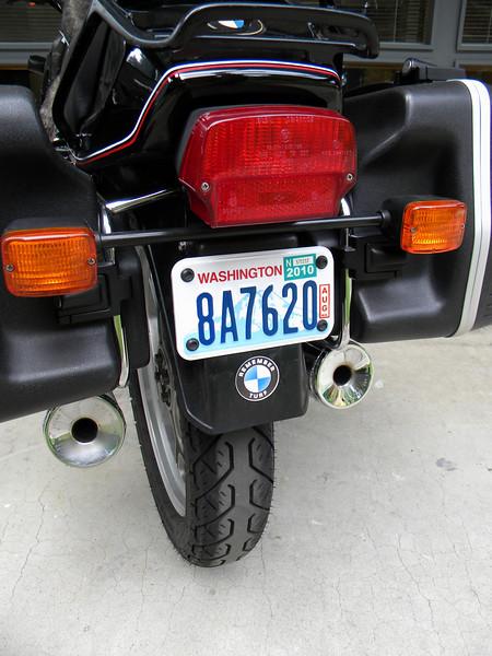 An official Washingtonian bike, 8.26.09, no longer a California bike.  Remember Turf badge added.