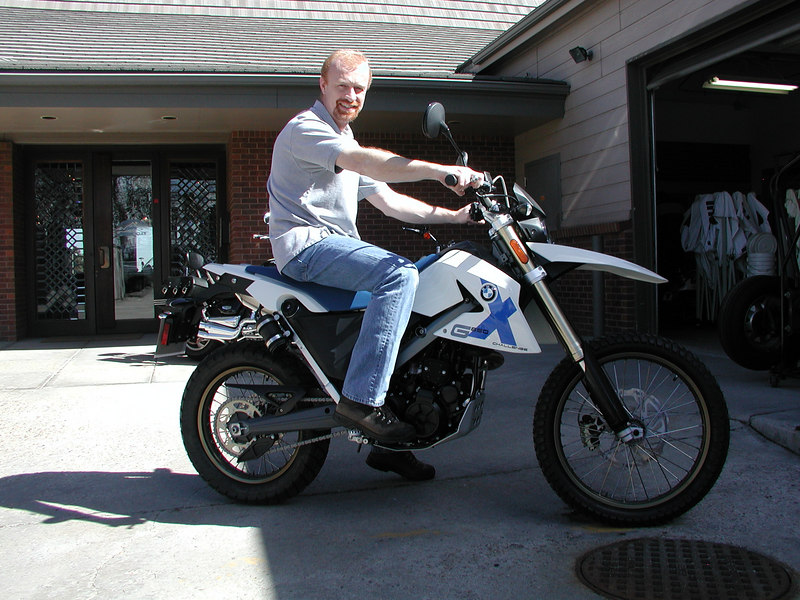 Will and his new BMW X Challenge -- a 650 thumper w/ and attitude!