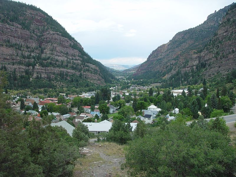 Looking down the valley overlooking Ouray.