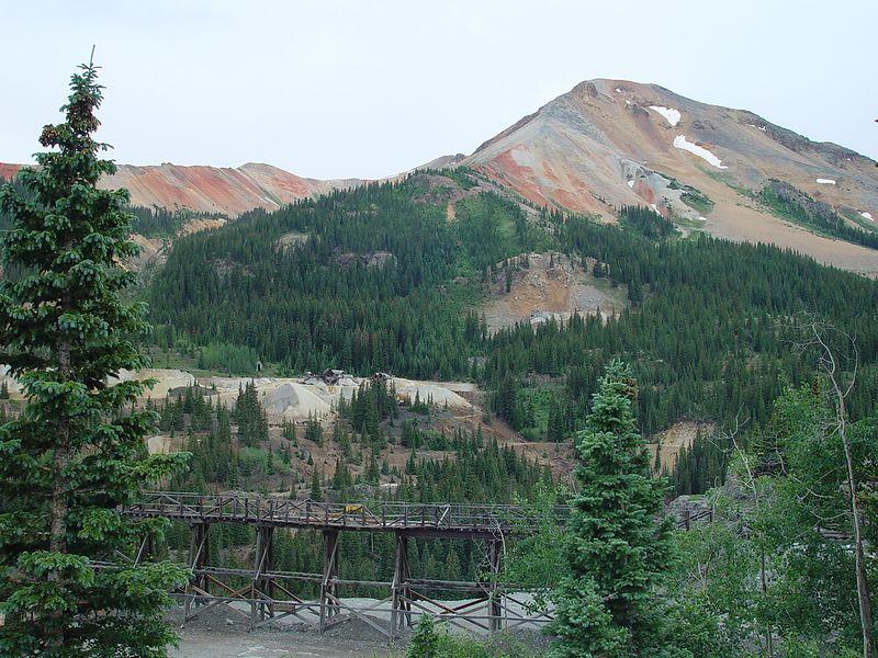 Mining trestle.