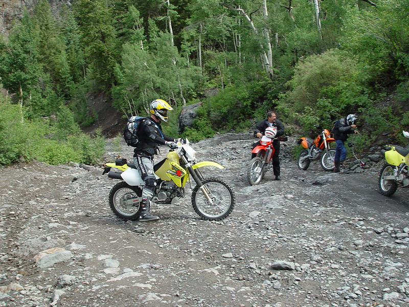Marc on his DRZ400S.