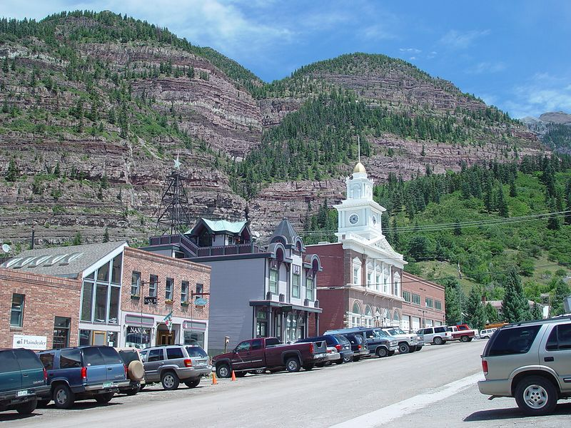 Main street in Ouray.