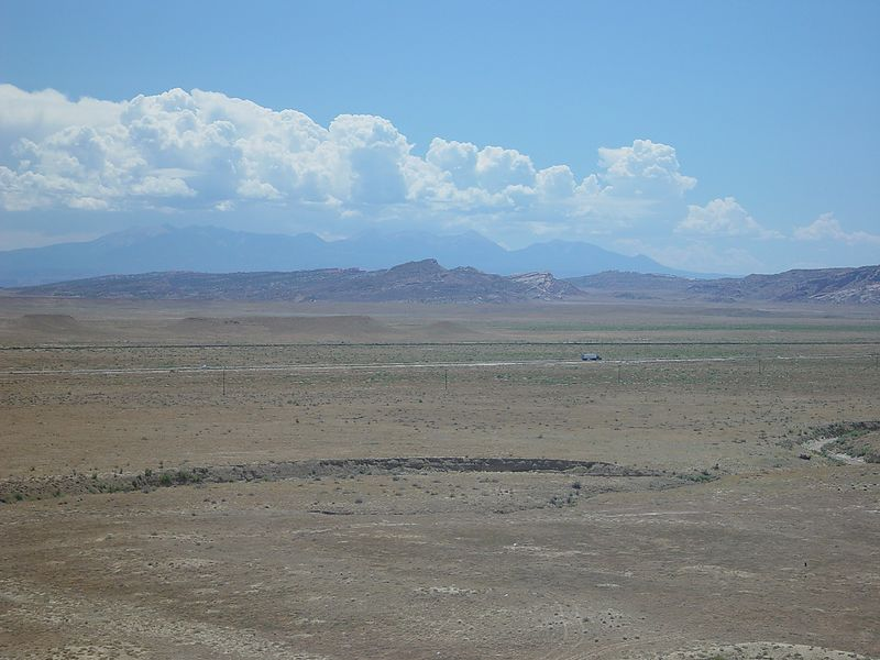 Looking out over the Utah desert.