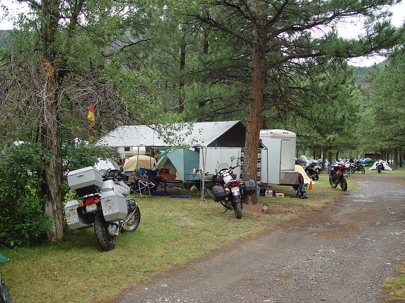 The Ouray KOA campground.