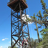 Dry Soda Lookout tower in the Aldrich Mtns, east of US 395.