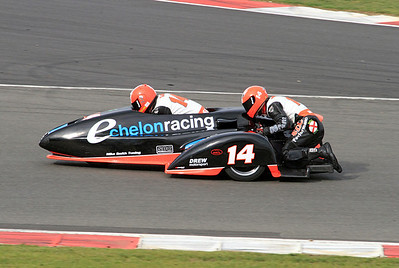 Gary Smith & Justin Sharp, LCR Yamaha. Eastern Airways British F1 Sidecar Championship.