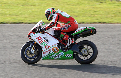 Martin Jessop, Rapid Solicitors Bathams Ducati. Superbikes Race 2, shortly after this he crashed exiting Chapel Curve..