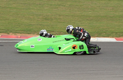 Roger Lovelock & Rick Lawrence, LCR Suzuki. Eastern Airways British F1 Sidecar Championship.