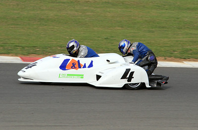 Andy Peach & Charlie Richardson, LCR Suzuki. Eastern Airways British F1 Sidecar Championship.